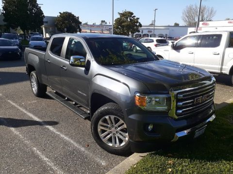 Pre-Owned 2016 GMC Canyon Crew Cab SLT 4X4* ONE OWNER, HEATED LEATHER SEATS, TOW PKG