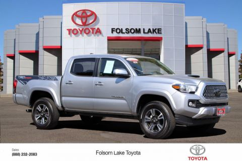 Certified Pre-Owned 2018 Toyota Tacoma TRD Sport Double Cab* ONE OWNER, TECHNOLOGY PKG, NAVIGATION, BED LINER, BLIND-SPOT MONITORS, TOYOTA FACTORY CERTIFIED, STILL COVERED UNDER THE ORIGINAL NEW TOYOTA FACTORY WARRANTY
