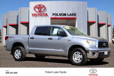 Certified Pre-Owned 2012 Toyota Tundra CrewMax SR5 4X4* TRD Off-Road, NEW BRAKES, NAVIGATION, F&R PARKING SONAR, TOW PKG, POWER SEAT, BED LINER, HANDS FREE PHONE Four Wheel Drive Pickup Truck - In-Stock